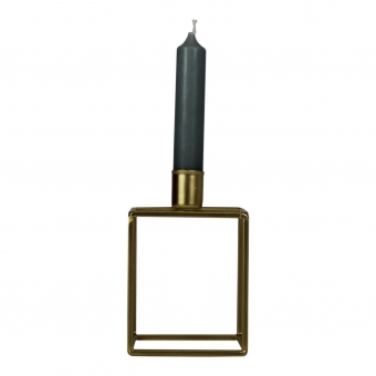 HOUSEVITAMIN Candle Holder Gold Block 1 candle 8,5x7x13