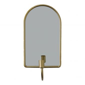 HOUSEVITAMIN Candle Holder Mirror Oval Gold