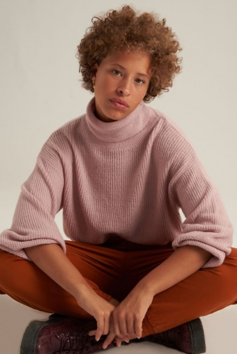 24Colours Knitted sweater Pink Turtleneck