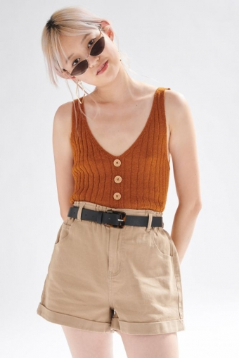 24COLOURS Top Rust knit