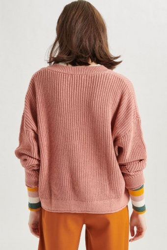 24Colours Knitted Sweater Roze