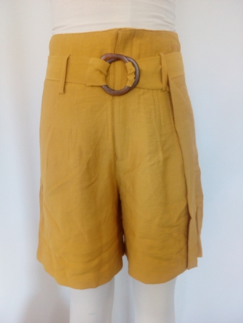 24COLOURS shorts Yellow 60450a