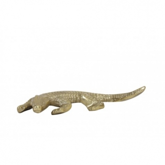 ORNAMENT 18X14X4 CM CROCODILE ANTIEK MESSING