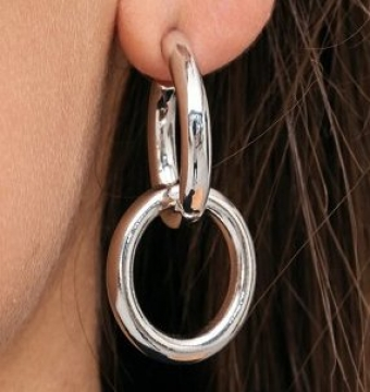 Double Ring Hoops