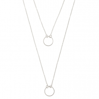Double Row Circle Necklace - Club Manhattan