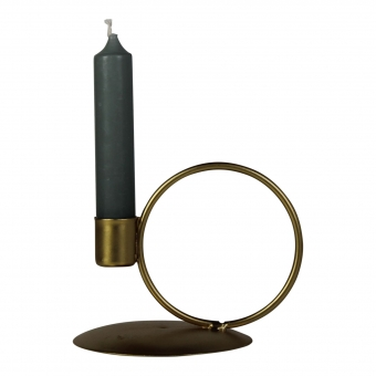 Housevitamin Candle Holder Circle Gold 12x10x10 - kopie