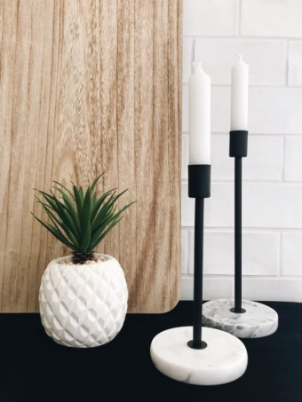 Housevitamin Candleholder marble Large 10x10x26