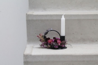 Housevitamin Candle Holder Circle Black 12x10x10