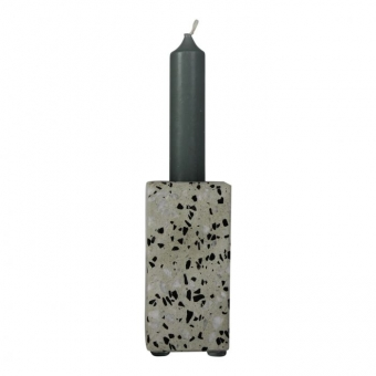 HV Candle Holder Terrazzo 5x5x10