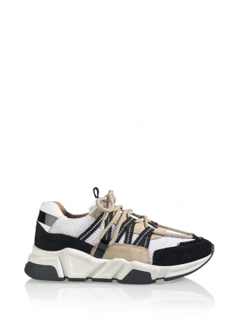 DWRS Sneakers LOS ANGELES Zwart / Beige