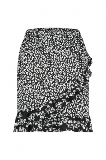 Milla Rider Skirt Black White Print