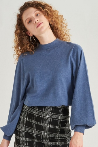 24Colours Oversized sweater Blue