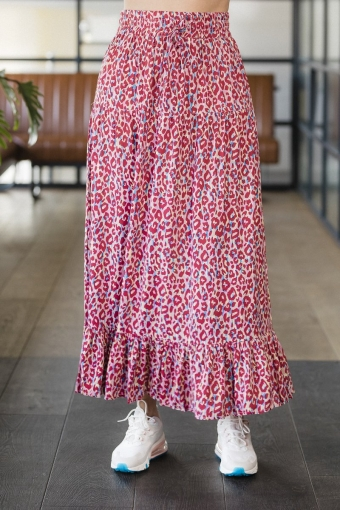 OSCAR & JANE Skirt Eline Leopard Red