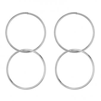 Statement Innercircle Hoops silver