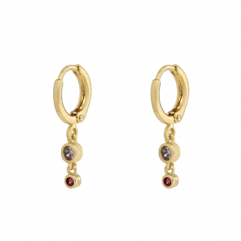 Earrings two Zirconia stones